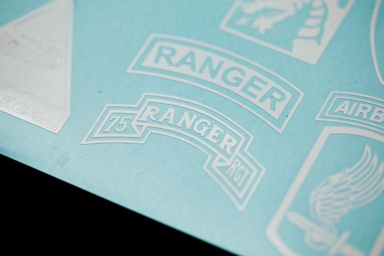 75th Ranger tab vinyl decal