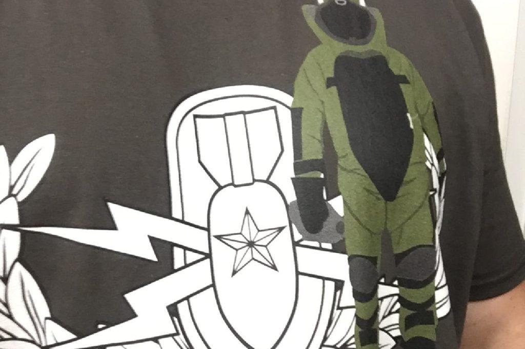 EOD Senior badge Bomb Suit