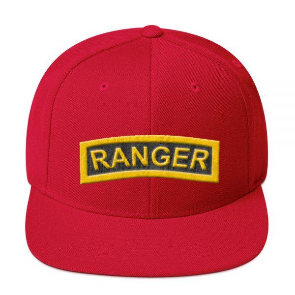 Ranger tab snapback hat