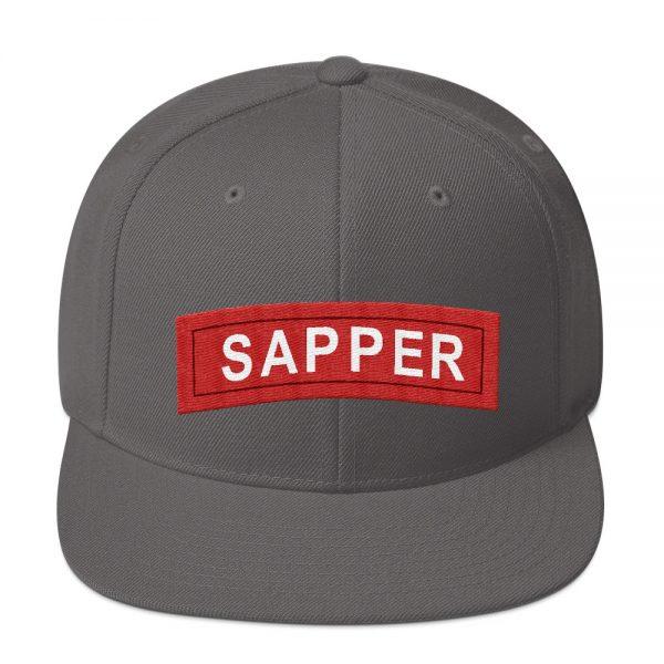 Sniper tab snapback hat