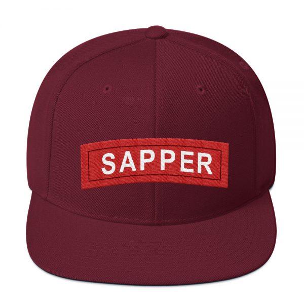 Sapper tab snapback hat